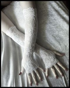 blog image wedding arms with gloves and dress