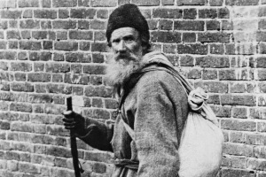 Author Leo Tolstoy in Peasant's Garb